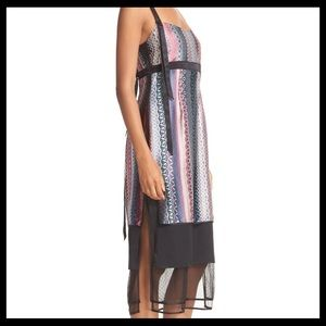 Cinq a sept black multicolor Gia Midi dress new